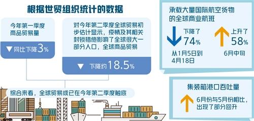 『』世贸组织发布最新报告:全球贸易或在今年二季度触底
